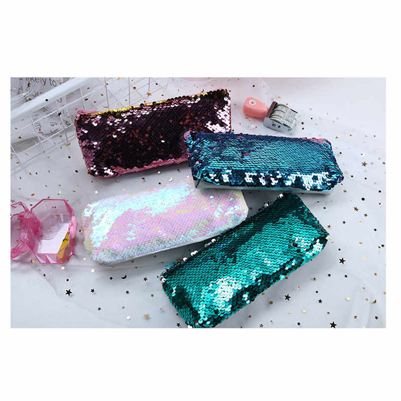 New Stationery Sequins Pencil Box School Supplies Stationery Pencil Case Large Capacity Pencil Box Cute Pencil Box School Tools