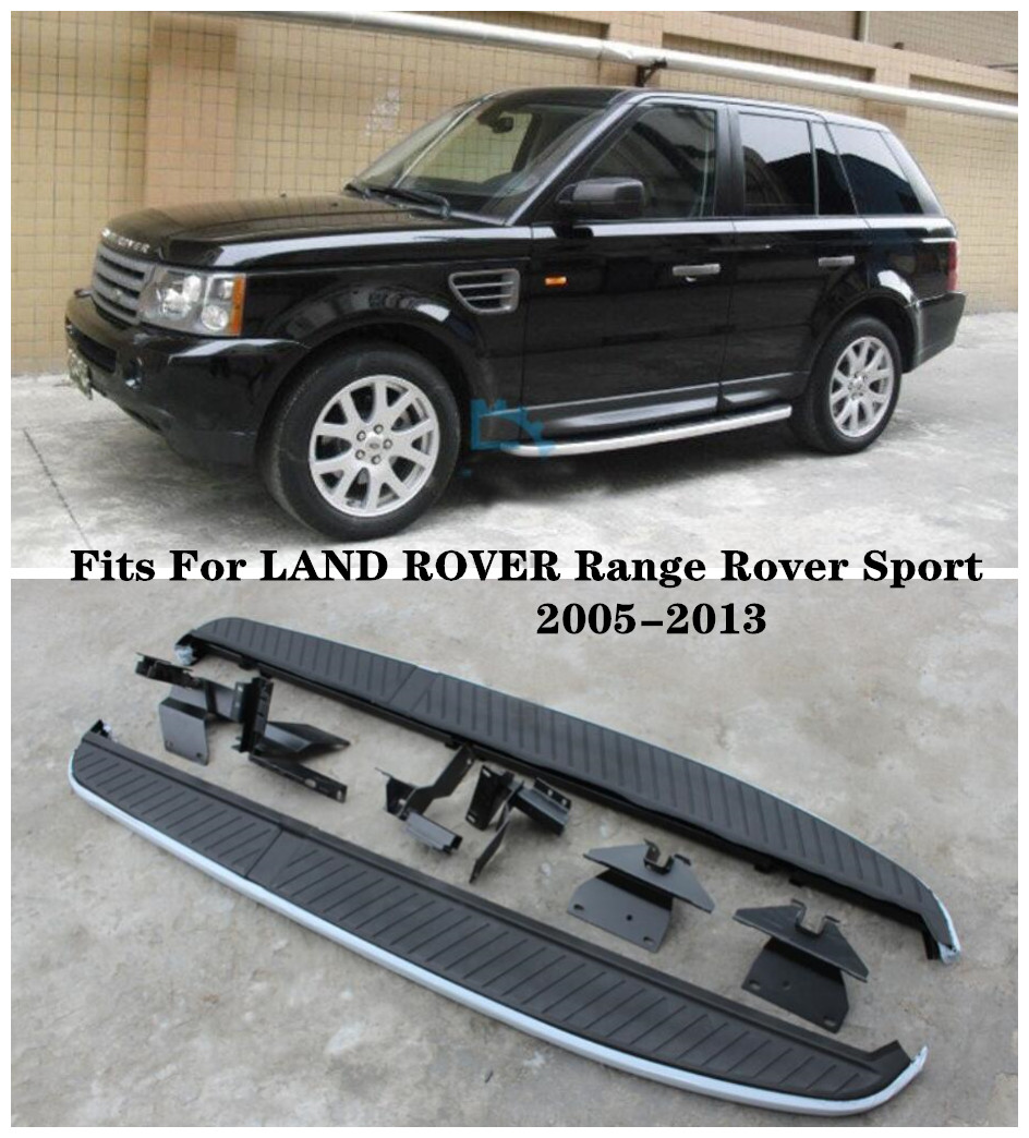 High Quality Aluminum alloy Car Running Boards Side Step Bar Pedals Fits For LAND ROVER Range Rover Sport 2005 2013