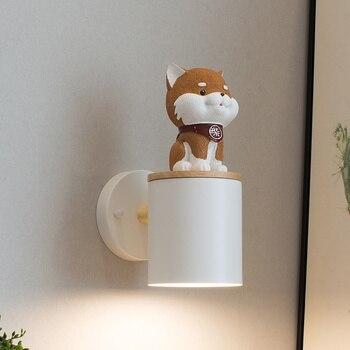 ノベルティ犬の子供の照明子供の寝室の壁ライト子供ランプ子犬壁燭台リビングルーム子供ルーム犬壁ランプ