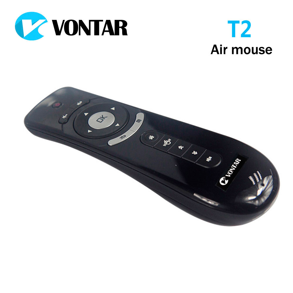 цены Original T2 Air Mouse 2.4G Wireless mini keyboard 3D Sense Motion remote controller T2 air mouse for Android Smart TV Box PC