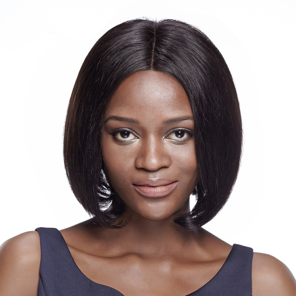 DEBUT Remy Human Hair Cheap Lace Front Human Hair Wigs 10 Inch Silky Straight Hair Wigs  For Black Women