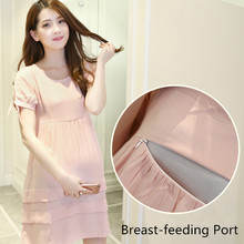 Fashion Summer Top Nursing Dress Breastfeeding Clothing for Feeding Nursing Clothes Breast Feeding Dress Maternity Dresses B100