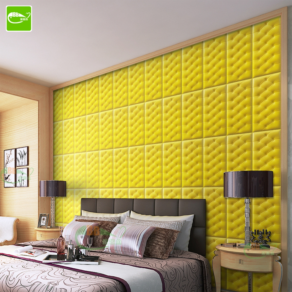 5pc/Lot Leather Wall Panels Leather Wall Sticker Soft Bag 30*60 XPE ...