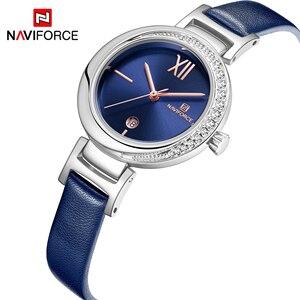 Image 2 - 새로운 naviforce 여성 패션 쿼츠 시계 여성 캐주얼 방수 시계 손목 시계 럭셔리 브랜드 숙녀 시계 reloj mujer 2019