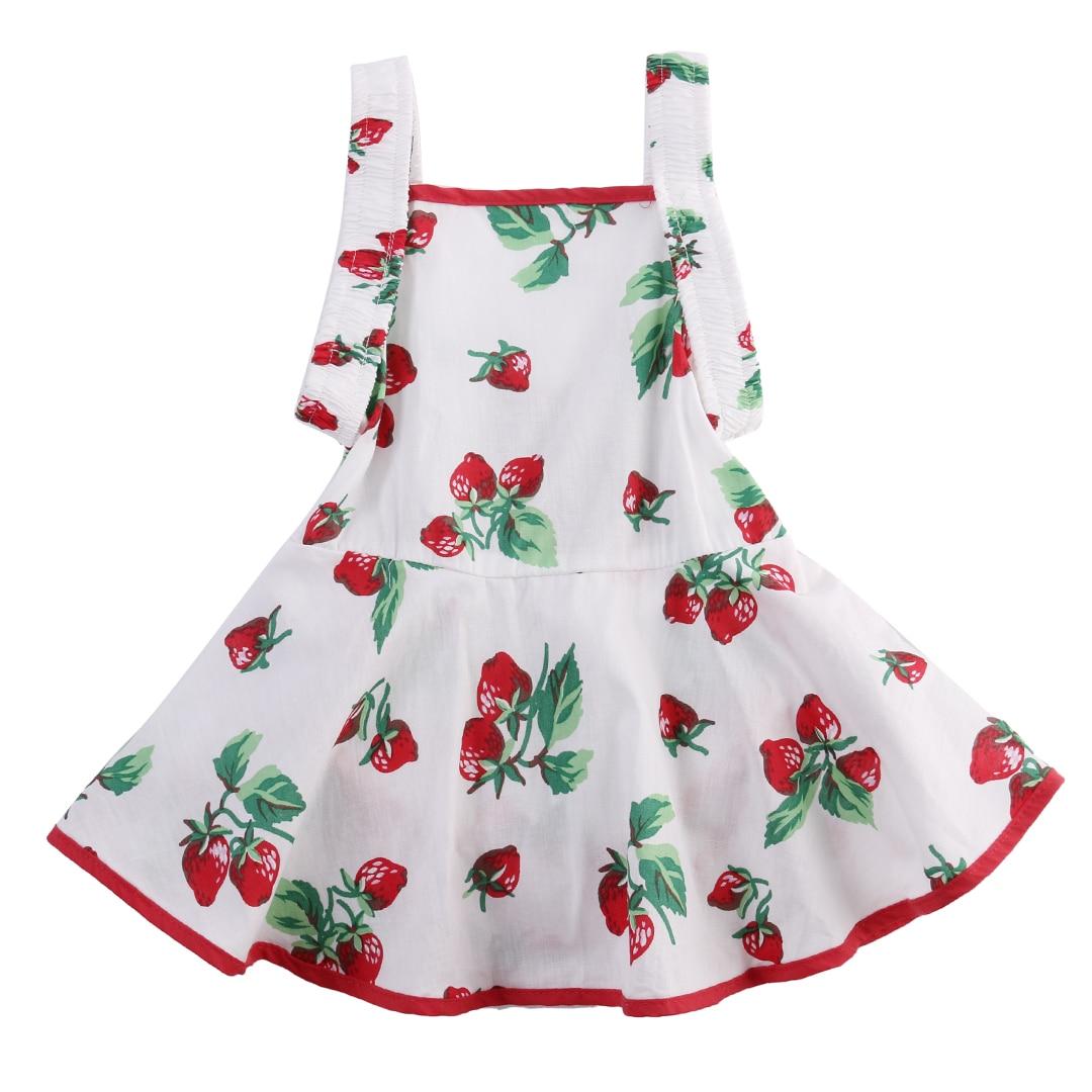 Princess Strawberry Romper Floral Jumpsuit Newborn Girls Baby Romper Tutu Dress Outfits
