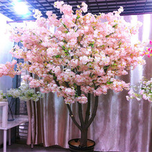 Silk Cherry Blossom Simulation Fake Flower Bouquet Artificial Tree for  Hotel Scenic Landscape DIY Wedding Decoration