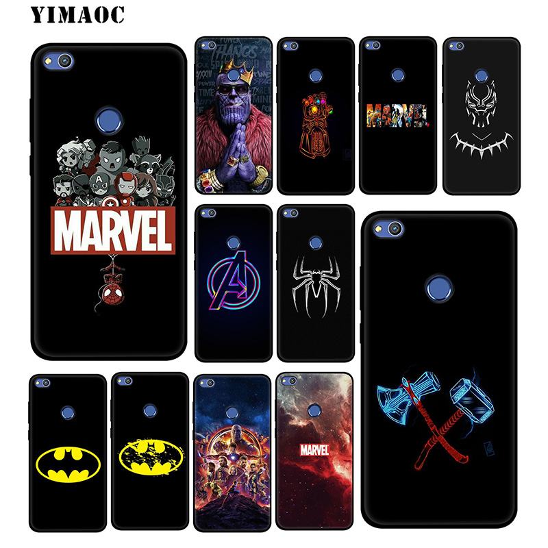 YIMAOC The Avengers Marvel Soft <font><b>Case</b></font> for <font><b>Huawei</b></font> Honor View 20 10 8X 8 8C 6A 7A 7X 7C Lite Pro Y9 <font><b>Y7</b></font> Y6 Prime <font><b>2018</b></font> 2017 Honor 20 image