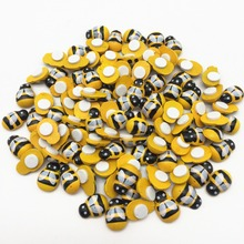 500pcs Wood Bumble Yellow Bees Stickers Self Adhesive Easter Crafts Toppers Embellishments For Scrapbooking