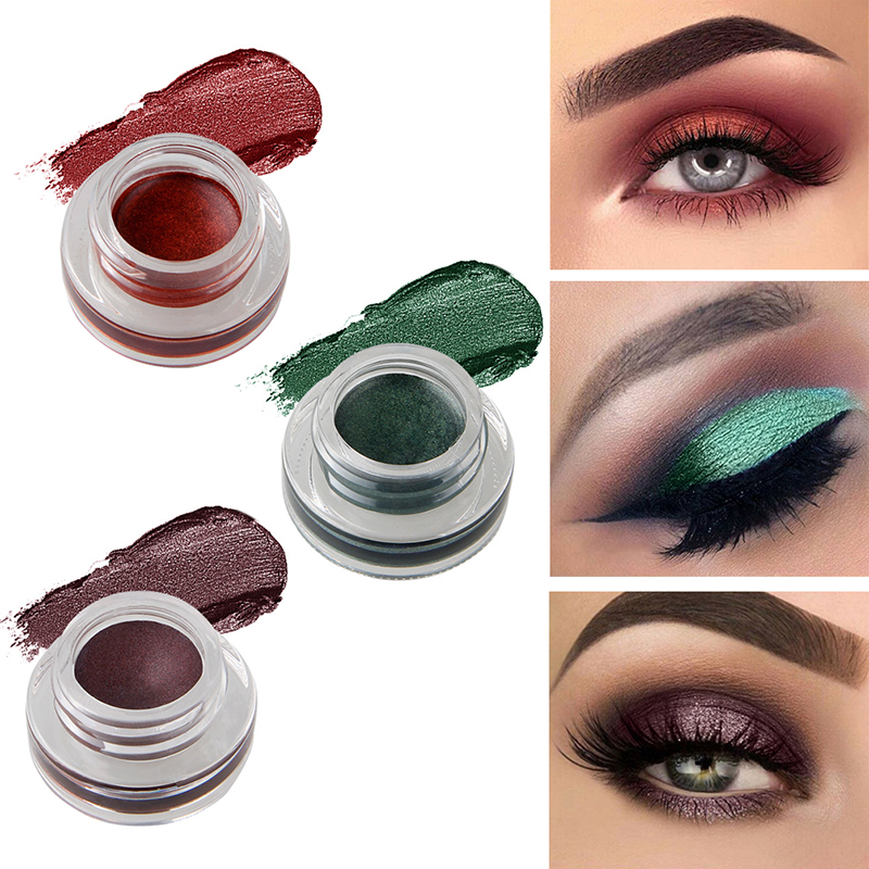niceface Brand Color Eye Shadow Cream Cosmetic Waterproof Pigment Metallic Shimmer Red Black Brown Single Eyeshadow Palette