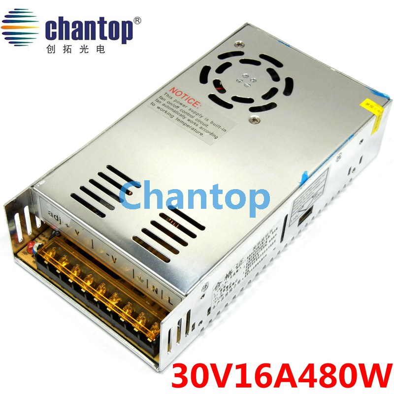 480W switching power supply output DC 30V 16A built-in cooling DC fan security full range DC transformer 110V / 220V input 1 pc diy cnc engraving machine working area130 100 40mm pcb milling machine cnc wood carving mini engraving router pvc