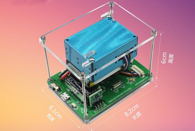 Английский PM2.5 HCHO детектор мониторинга воздуха PM2.5 пыли haze лазерной Сенсор с Температура и влажности CO2 Сенсор с батареей