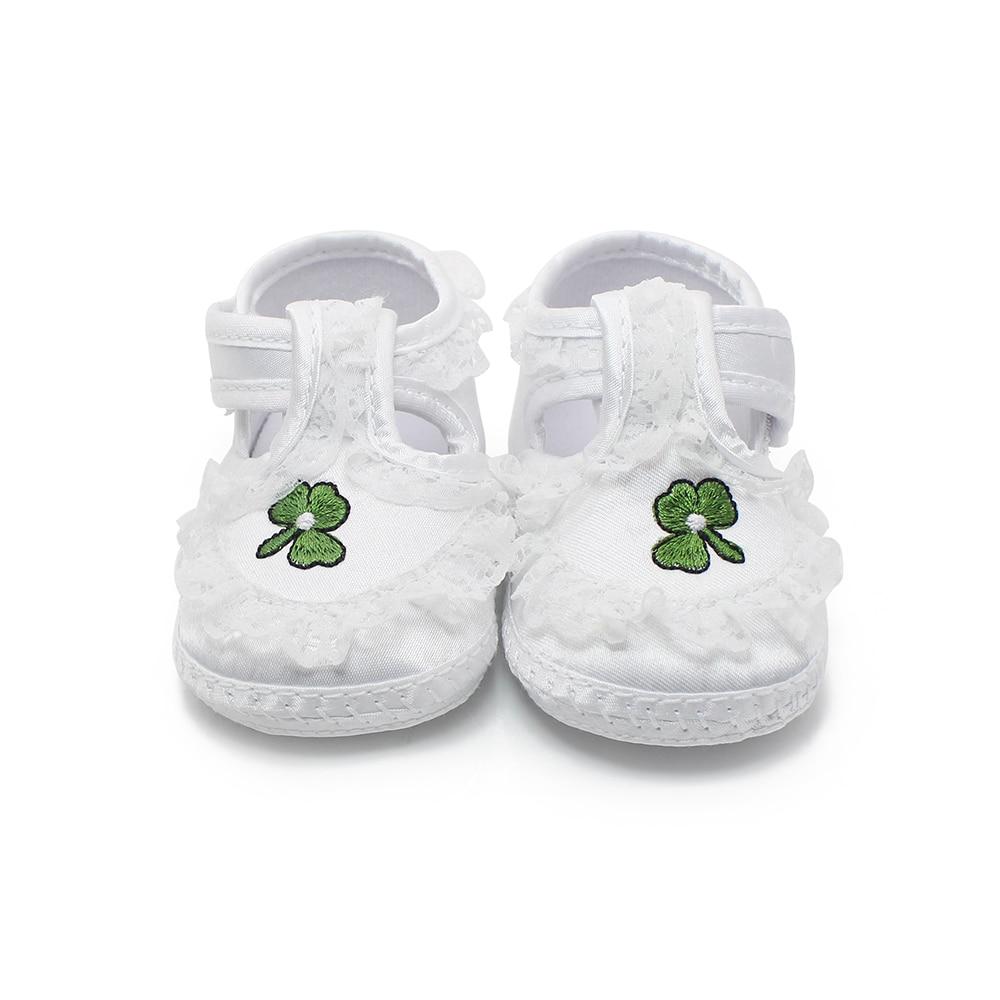 Чисти бели обувки за новородено Меки - Бебешки обувки - Снимка 2