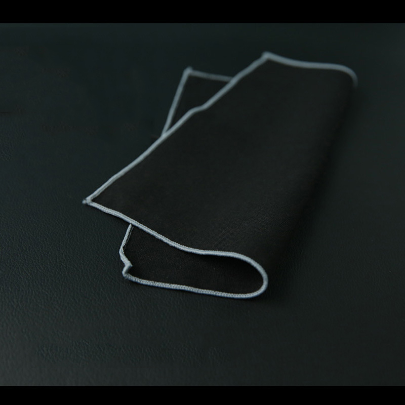 Mantieqingway Solid Color Black Pocket Square Handkerchiefs For Mens Business Pocket Towel Pocket For Men Suit Small Hanky