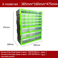 tool case toolbox Parts box Classification of ark Multi grid drawer type lego Building blocks Receive case high quality
