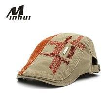 Minhui 2016 New Fashion Letters Beret Men Women Cotton Hats Spring Summer Style Boina Gorras Flat Cap Berets Hat