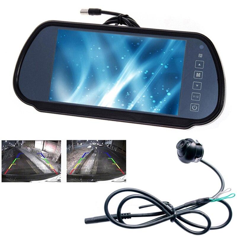 """7\"""" Car <font><b>LCD</b></font> TV/DVD Screen CCD 170degree Rear View Night Vision Park Monitor/Camera kits"""