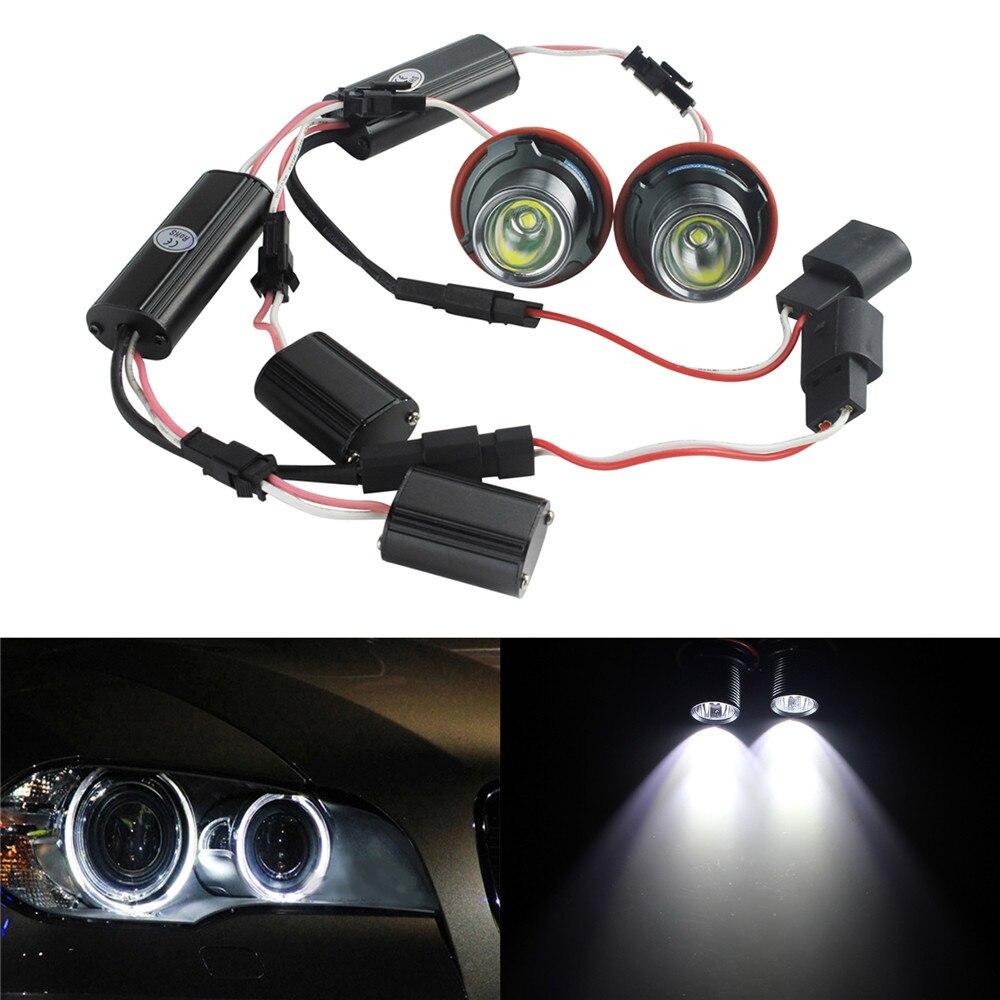 ANGRONG 2x10 W LED Pour BMW E39 E87 E60 E63 E64 E65 E66 E53 Ange Yeux Ampoules Lampe