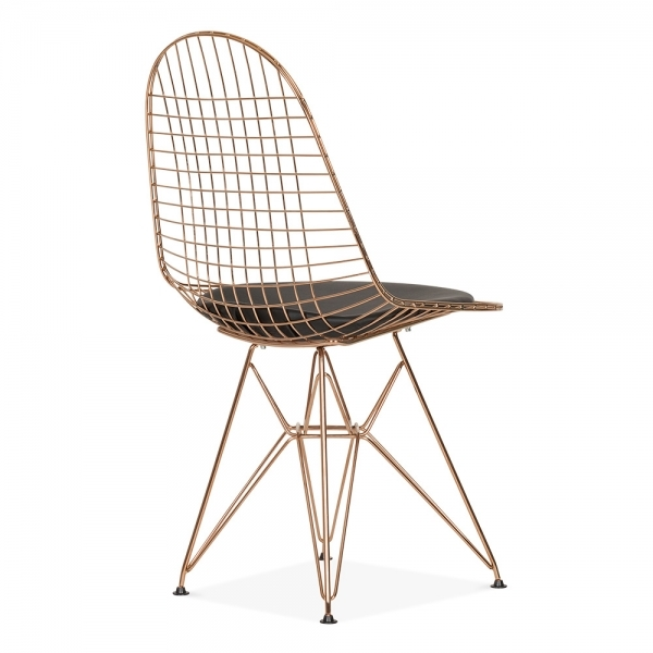 Rose Gold Color Copper Color Wire Chair Eiffel Base Modern Classic Wire  Chair Cafe Metal Wire Chair With Cushion Pad Wire Chair  In Dining Chairs  From ...