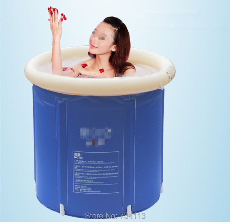 tub Portable inflatable bath Folding Tub Bath Bucket Adult Bathtub ...