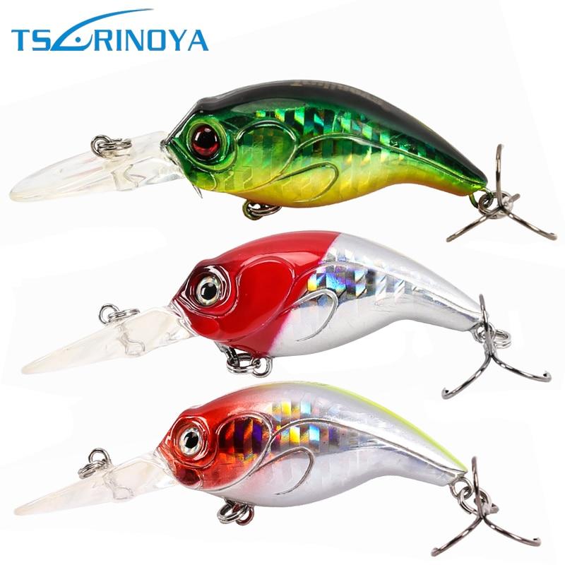 Tsurinoya DW10 Long Tongue Rybářské návnady 76mm 8,5g Kliky Návnada Sladkovodní Crankbait Max Běh Hloubka 1,5 metru 3 Barvy