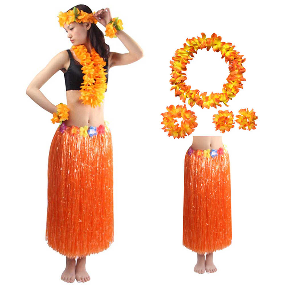 5 шт./компл./комплект, Гавайская Юбка LuauПовязка на голову ожерелье браслет Мода