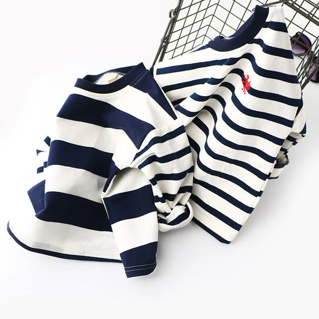 Boys Spring Hoodies Children Cotton Long Sleeve Sweatshirt Striped Casual Pullover Kids Boy Clothing Fashion O-Neck Sweatshirts 4