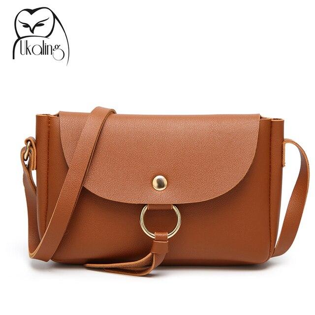 UKQLING Small Flap Shoulder Crossbody Bags Designer Handbags Ladies Clutch Purse  PU Leather Women Messenger Bag Vintage Styles 5fe3af50d9544