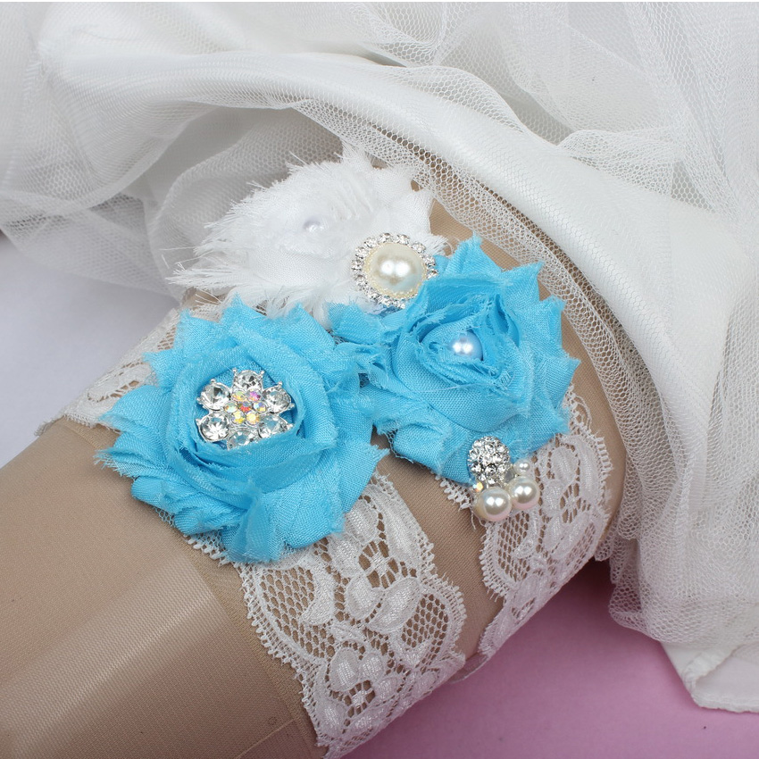 Lace Wedding Garters: Vintage Lace Wedding Garter Set Champagne Chic Flower
