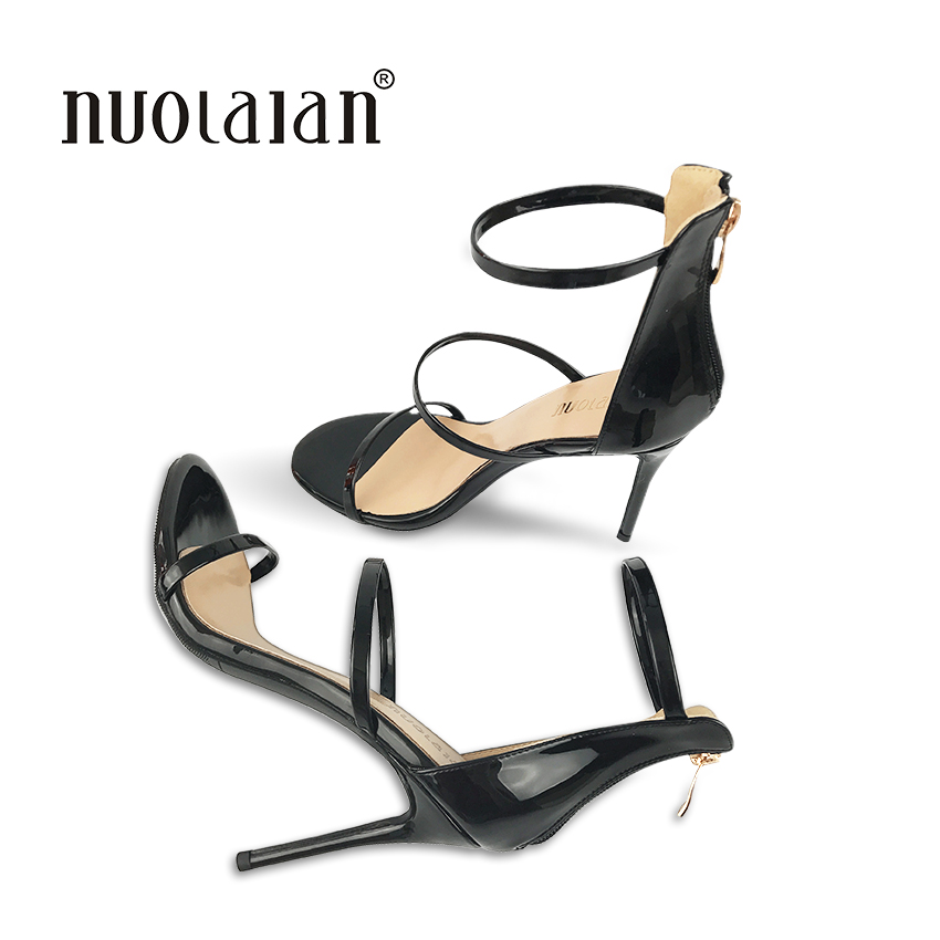 Фото Brand fashion women pumps ankle strap high heel pumps shoes for women sexy peep toe high heels sandals party wedding shoes woman