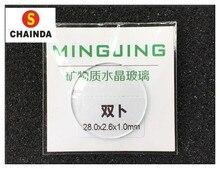 c93fb92554a Frete Grátis 1 pc 1.0 40mm Côncava Dupla Cúpula Rodada Relógio de Cristal  Mineral