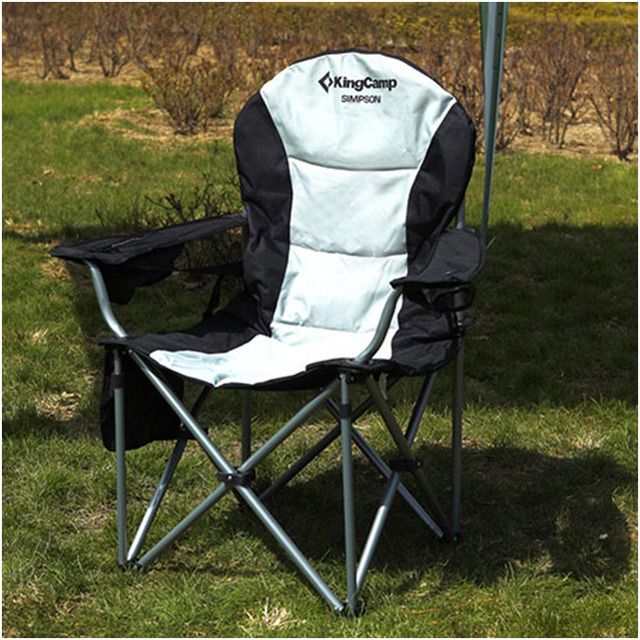 practical outdoor folding chair wiht large pocket on the back