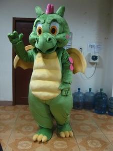 Image 2 - Костюм талисмана зеленого динозавра, карнавальный костюм Зеленого дракона для взрослых, вечерние костюмы на Хэллоуин