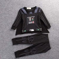 2017 New Star Wars Children Cospaly Kids Darth Vader Anakin Skywalker Party Cape Costume Coat Trouses
