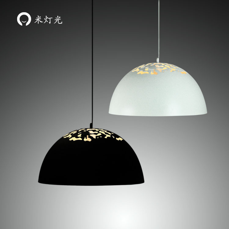 Modern simple European style dining room lighting American hollow carved iron bedroom Pendant Lights a1 master bedroom living room lamp crystal pendant lights dining room lamp european style dual use fashion pendant lamps