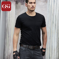 GSG Men Genuine Grain Leather Belts with Pin Buckle Studded Rivets Males Fashion Wide Belt for Jeans Trousers Brown 110 115 120