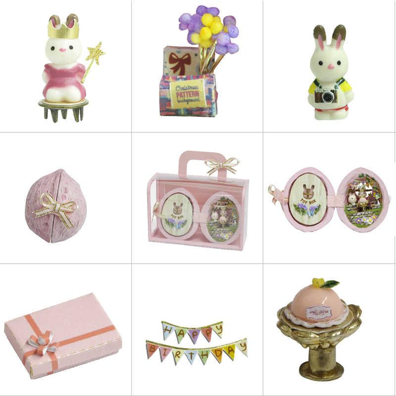 FAI DA TE Casa Delle Bambole Mobili In Miniatura di Legno Casa di Bambola Miniaturas Scatola Theatr Giocattoli per I Bambini Regali di Compleanno Casa di Semi Del Mondo R1
