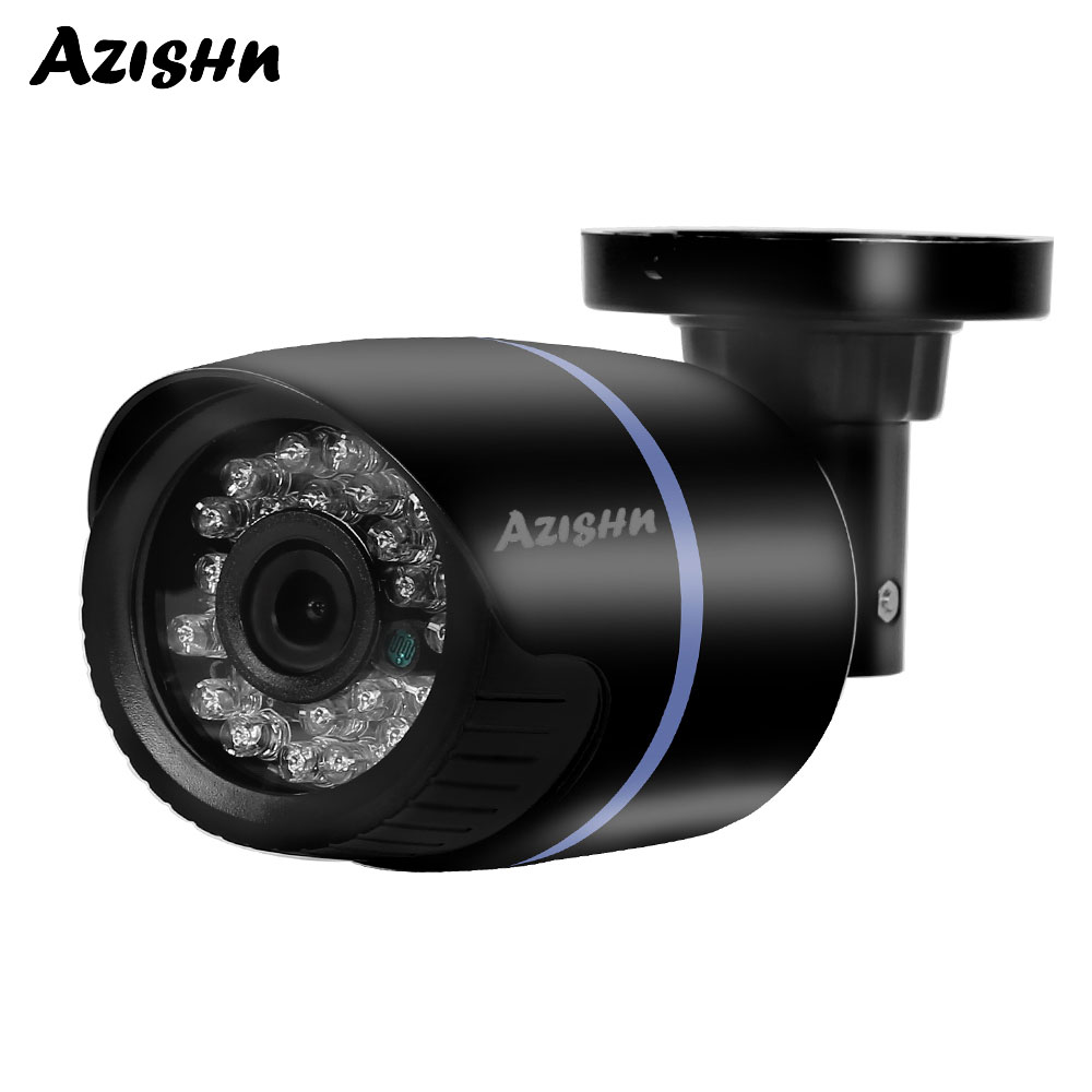 AZISHN HD 720P 960P 1080P 48V PoE IP Camera Outdoor Waterproof IR Night Vision Video Surveillance Security Bullet CCTV IP Camera