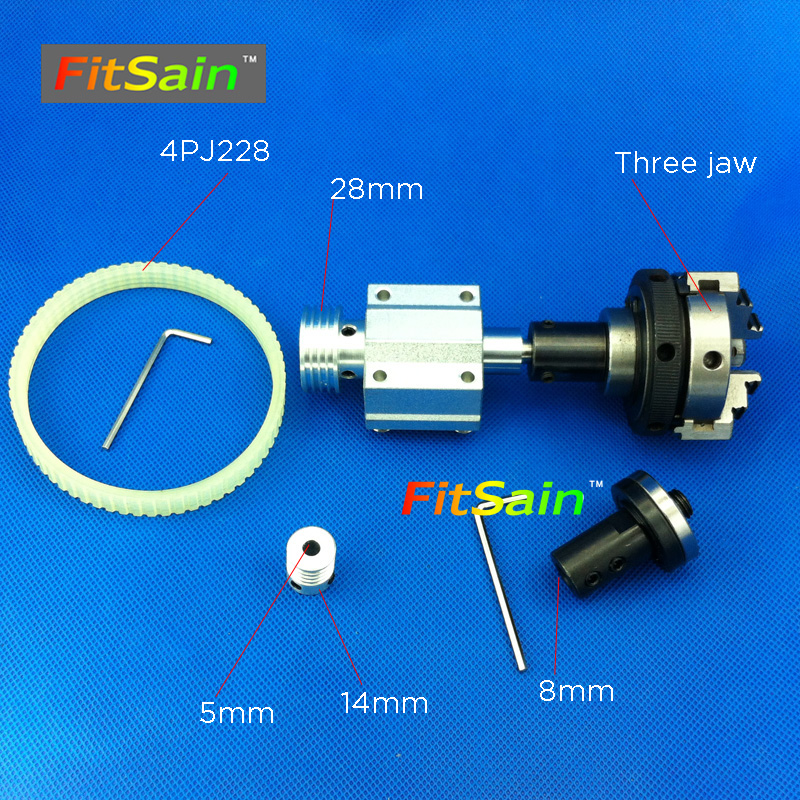 FitSain-hole 5mm pulley three jaw chuck D=50mm Cutting saw part Pulley mini Lathe table saw blade 16mm/20mm hole murray replacement part 5101026x7sm pulley 4 5