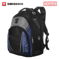Swisswin Men S Backpack Swiss Stylish Multi Pocket 13 3 14 15 Laptop Backpack Orthopedic Satchel