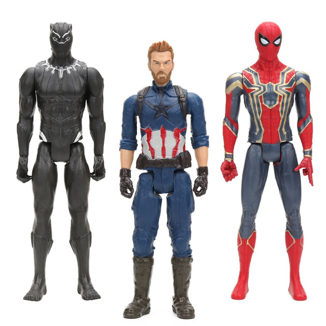 4 estilos The Avengers Figura Brinquedos 30 CENTÍMETROS de Super-heróis Capitão América Spider Man Homem de Ferro Ironman Modelo Collectible Bonecas Pantera Negra
