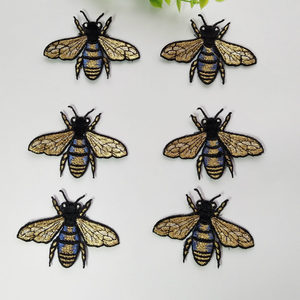 6pcs/Lot Flying Bee Applique Embroidered Sew on Cute Insect Patches Badge For Clothes Bag Diy Craft Repair Home Decoration