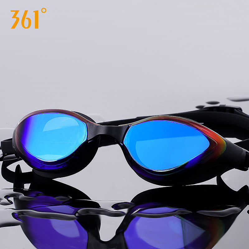 361 Goggles Swimming  Anti Fog Tinted Swim Glasses Sun Protection Silicone Swimming Goggle for Adult Waterproof Swim Eyewear Men