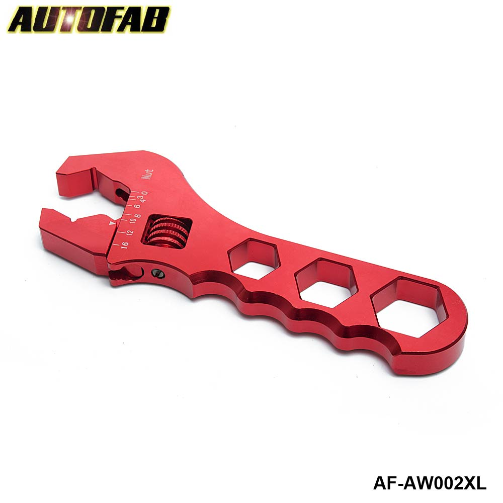 AN3-AN16 Adjustable Anodized Aluminum Wrench Fitting Tool Spanner AN6 AN12 Red