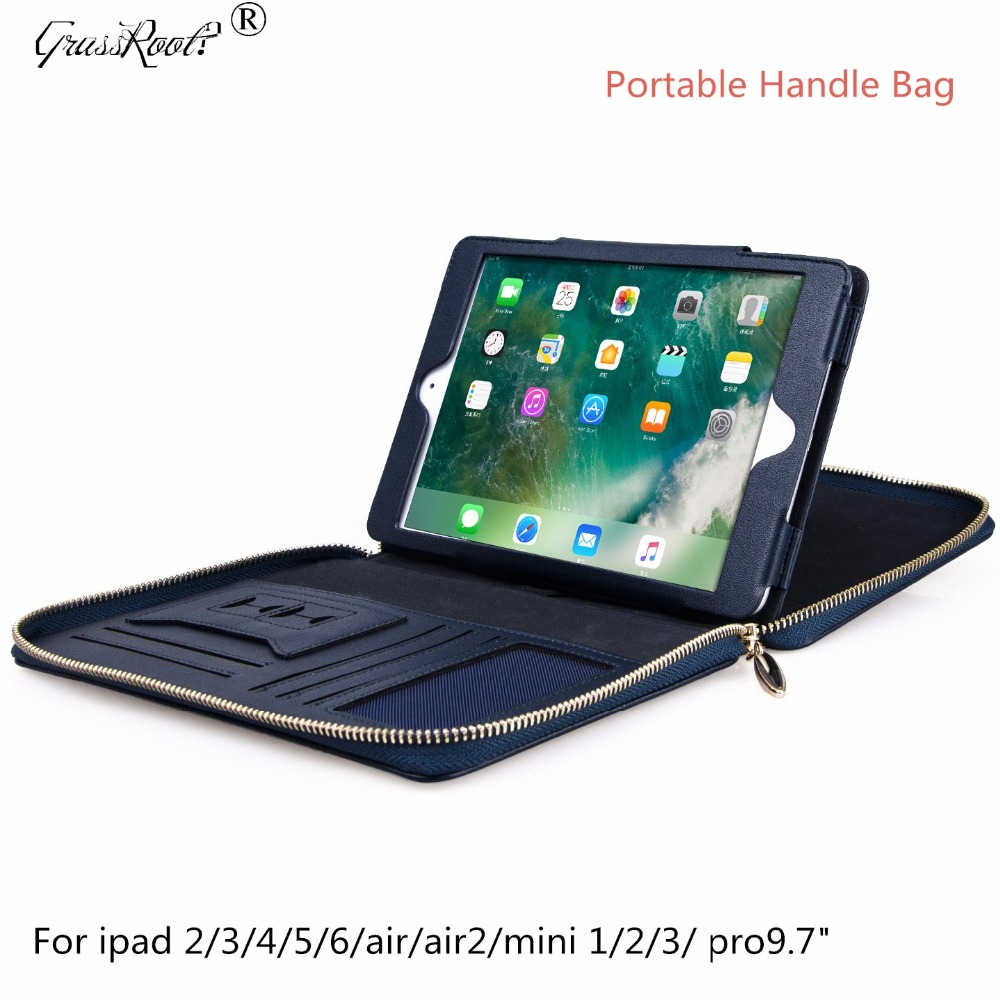 Tablet Case for ipad 2 3 4 5 6 mini123 Leather Sleeve Wallet Style Stand Tablet Cover for ipad pro 9.7 inch Portable Handle Bag ultra thin leather tablet stand sleeve pouch case for ipad mini 2 3 4 7 9 air 1 2 pro 9 7 10 5 inch cover 2017 new cases