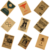 Harry Potter Wanted Order Undesirable Vintage Retro Kraft Poster Decorative DIY Wall Stickers Home Bar Posters