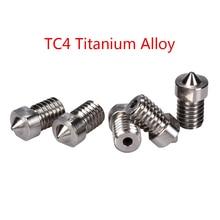 3D TC4 Titanyum Alaşım Meme V5 V6 Meme 3D Yazıcı Parçaları J-kafa Hotend Ekstruder RepRap 1.75mm Filament 0.3/0.4/0.6/08/1.0mm