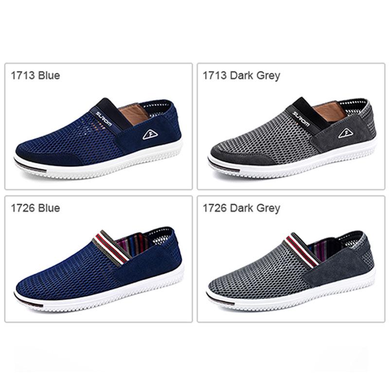 SUROM Summer Men Casual Shoes Slip-On Súper Ligero Transpirable - Zapatos de hombre - foto 5