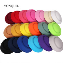 "6.3""(16 CM) 19 Colors Mini Top Fascinator Hats Hot Sale Party Millinery Hats DIY Hair Accessories Headwear Pillbox Hats MH018"