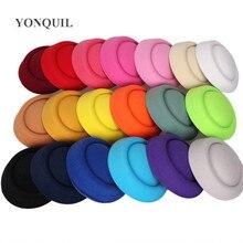 "6.3 ""(16 cm) 19 cores mini início fascinator chapéus venda quente festa millinery chapéus diy acessórios de cabelo headwear pillbox chapéus mh018"