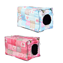 Hook Design small pets Cube Cotton hamster House Cage for Small Animals squirrel Guinea pig Chinchilla rabbit house accessories